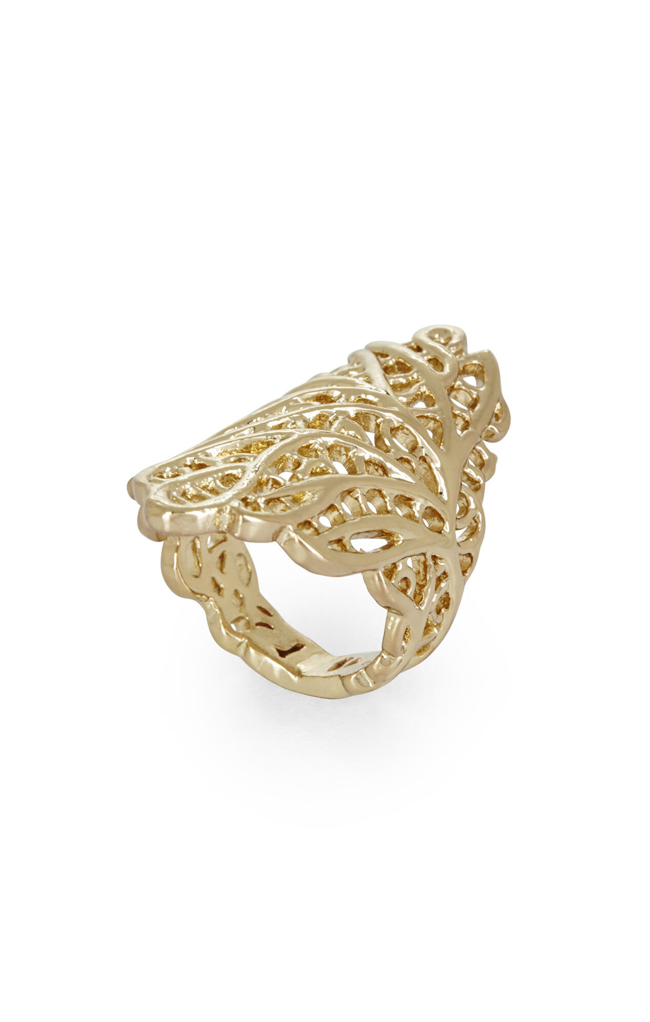 Coral Filigree Ring