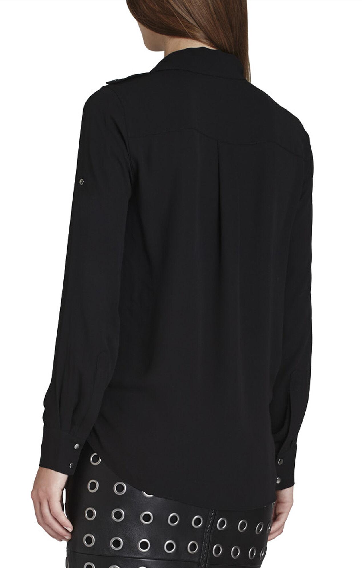 Sessilee Draped Long-Sleeve Shirt