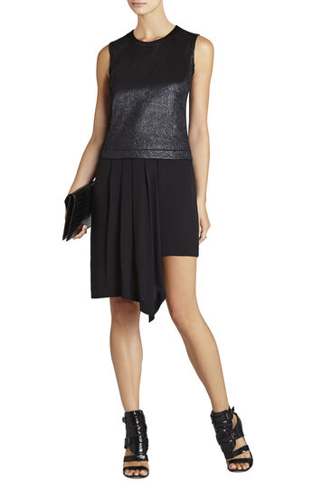 Juliane Ruffle Asymmetrical Pleated-Drape Dress