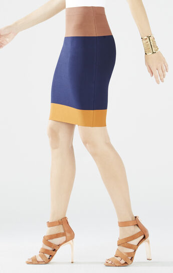 Scarlett Color-Blocked Pencil Skirt