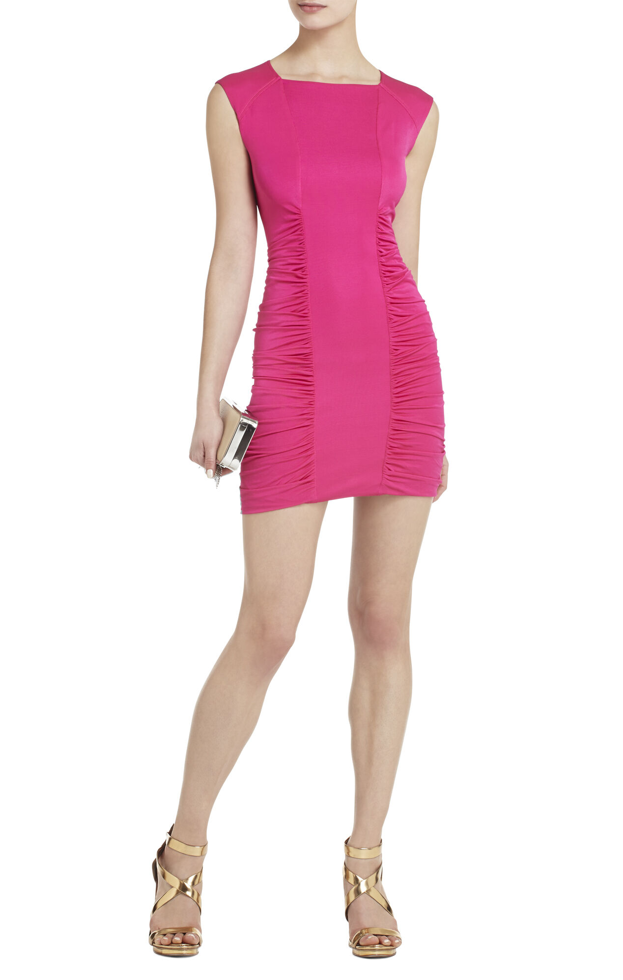 Renee Side-Ruched Center-Panel Dress
