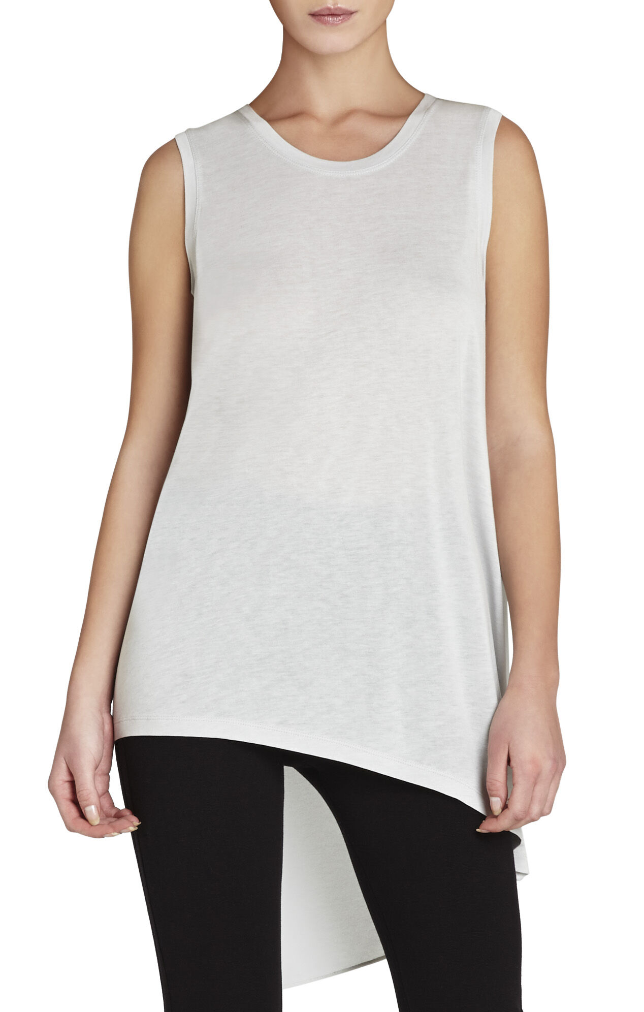 Claudia Sleeveless Asymmetrical T-Shirt