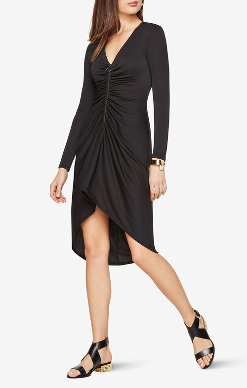 Debby Zip-Front Jersey Dress