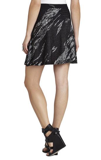 Karlie Crackled-Jacquard A-Line Skirt