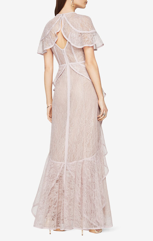 Millamina Ruffled Lace Gown