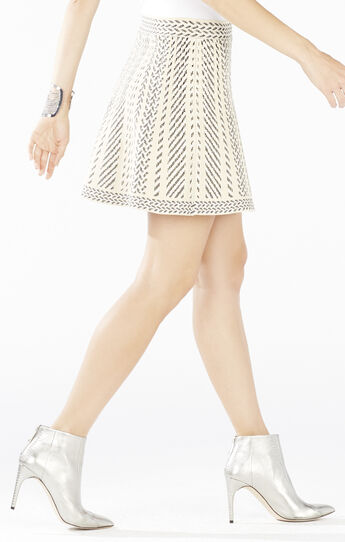 Queeny Knit Jacquard A-Line Skirt