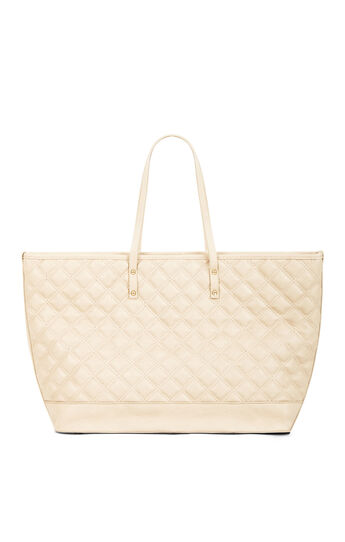 Quilted Faux-Leather Tote