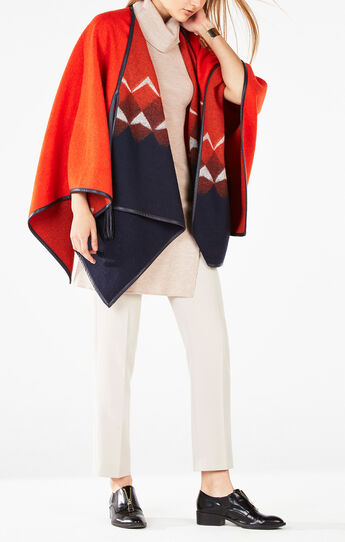 Trystan Color-Blocked Poncho