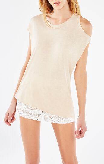 Danta Cold-Shoulder Asymmetrical Top