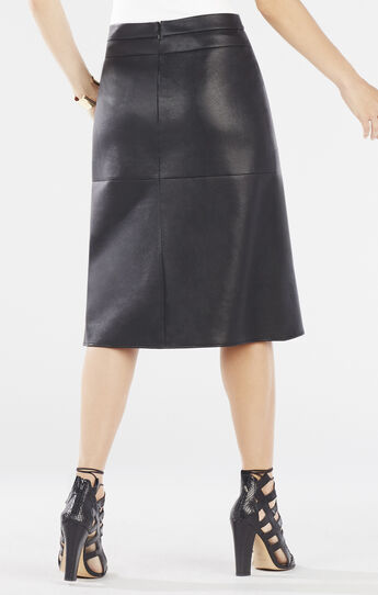 Margaux Faux-Leather A-Line Skirt