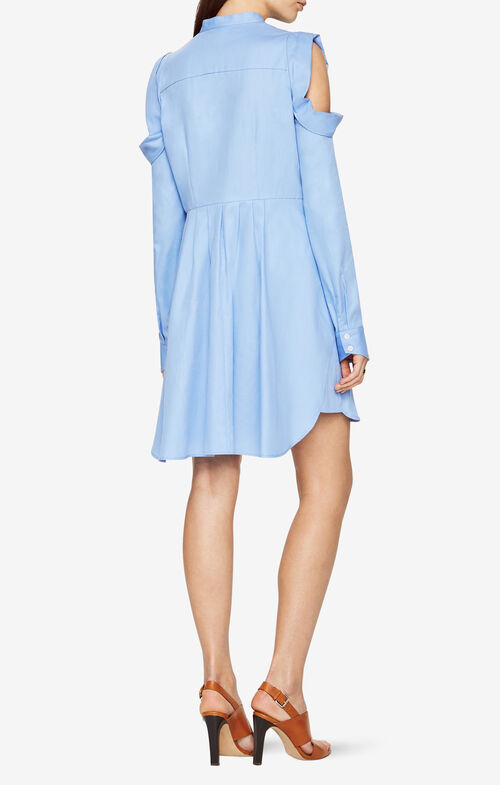 Jessee Cold-Shoulder Shirt Dress