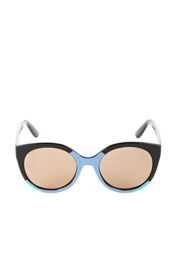 Color-Blocked Round Sunglasses