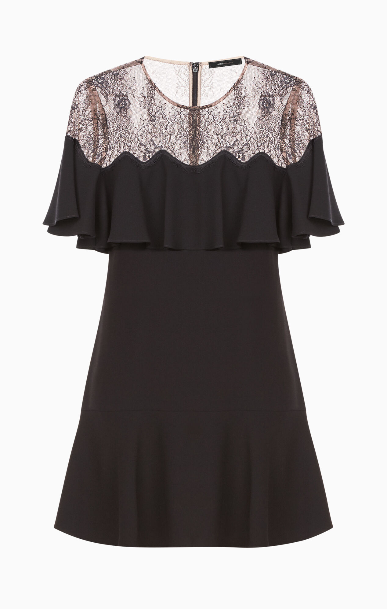 Rosy Lace-Yoke Dress