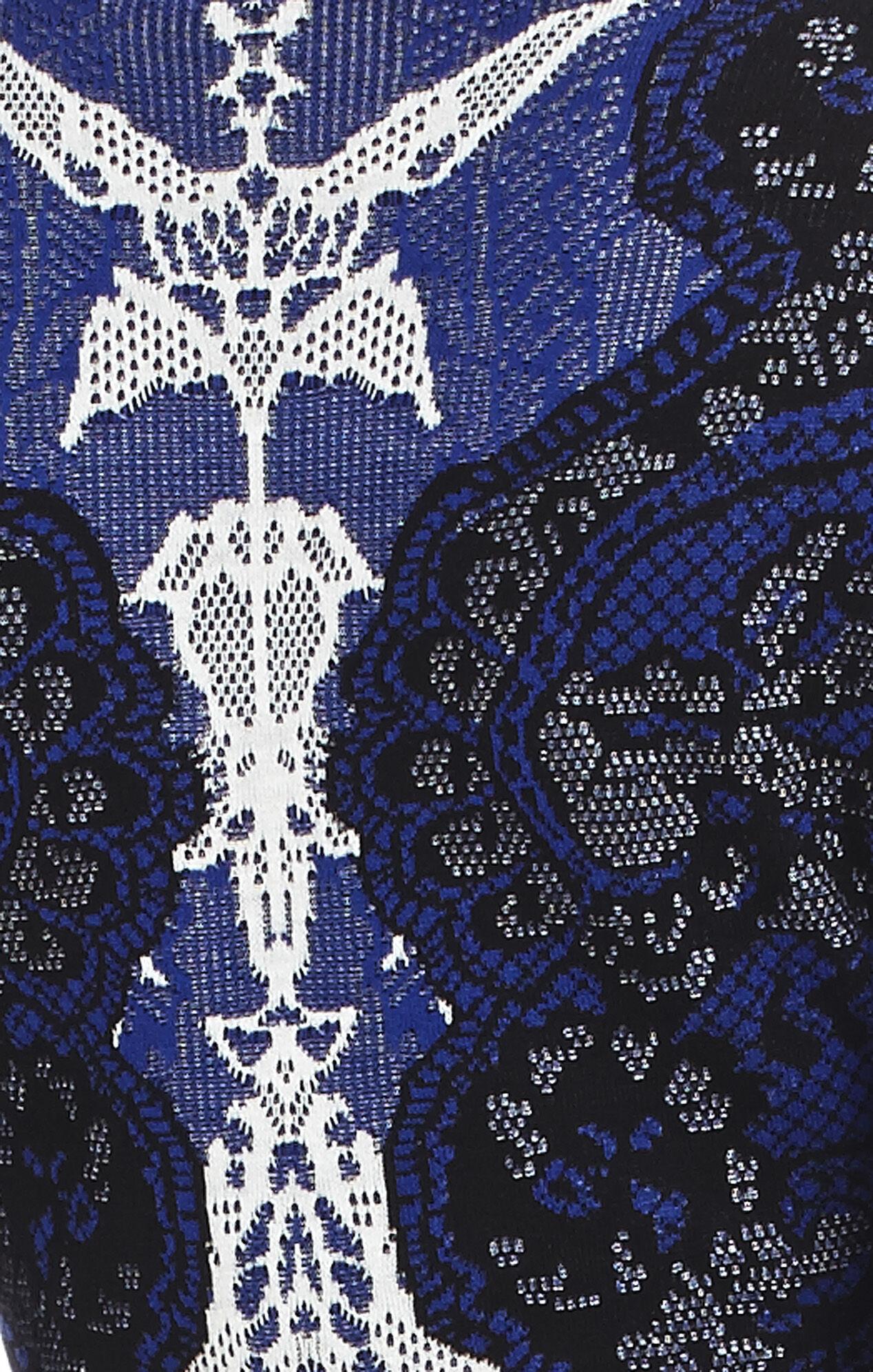 Alma Relief-Jacquard Lace A-Line Dress