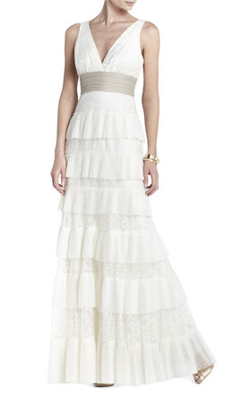 Carly Layered Lace Gown