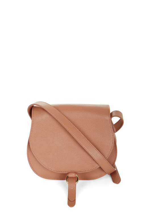 Lory Mini Leather Saddle Cross-Body