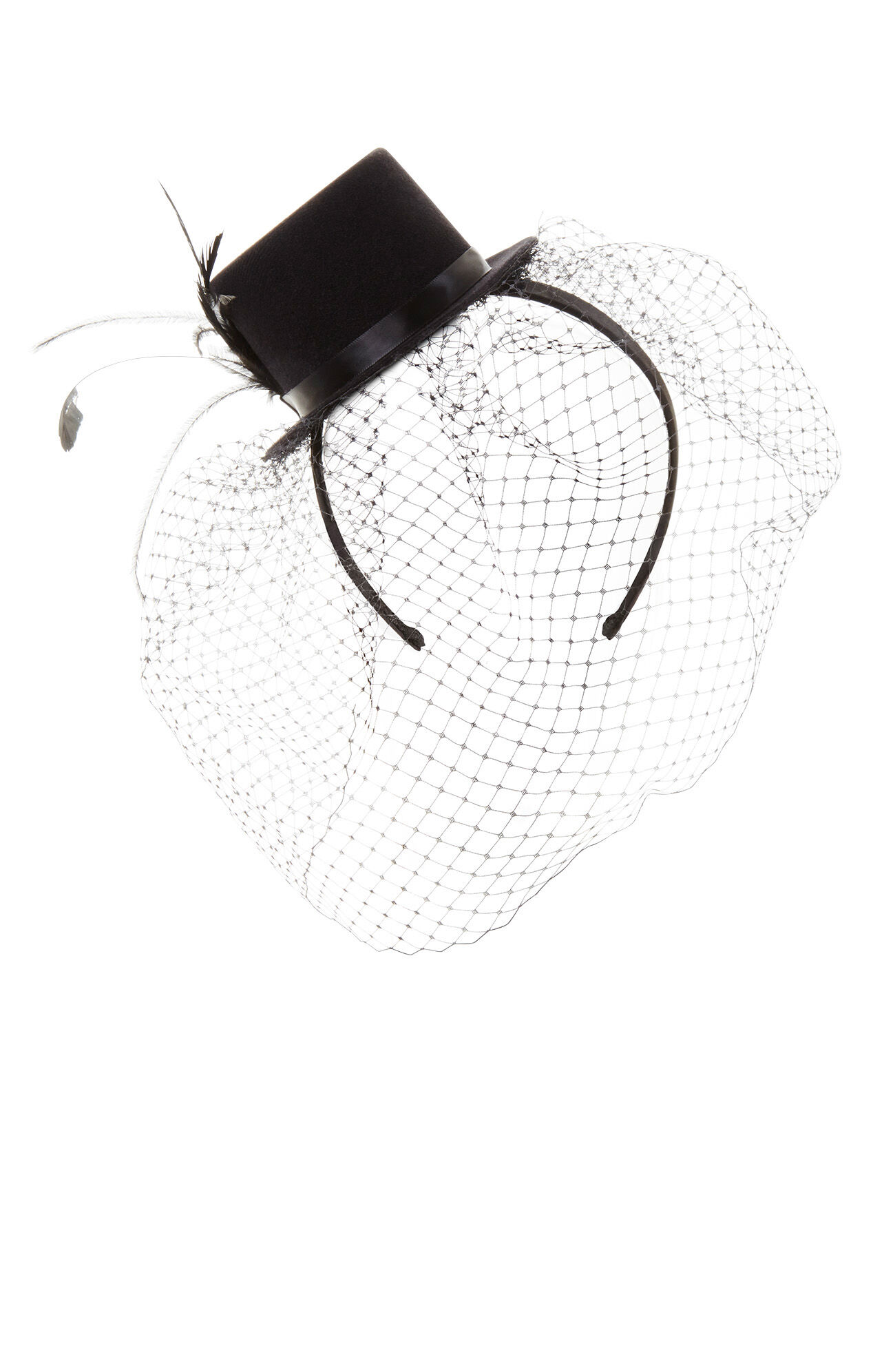 Veil Feather Top Hat