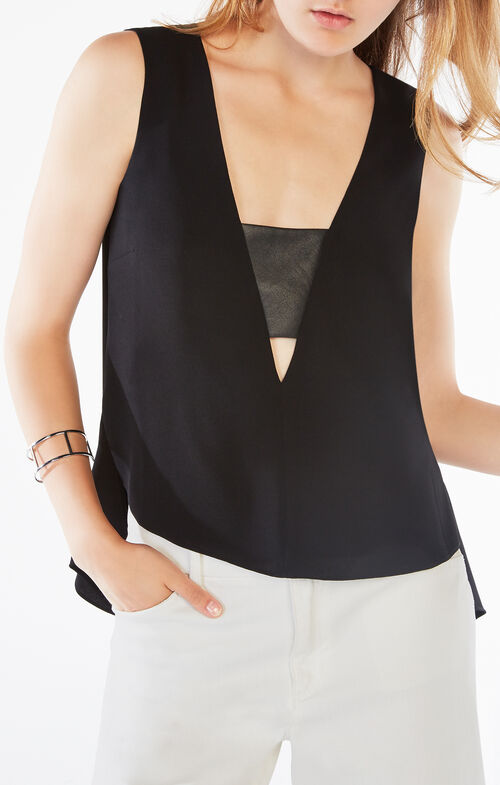 Sabrynna Sleeveless Draped Top