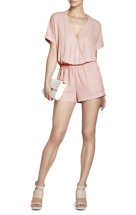 Quincey Wide-Sleeve Wrap Romper