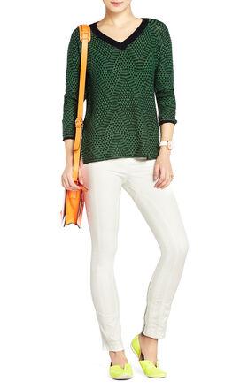 Emmy V-Neck Jacquard Sweater