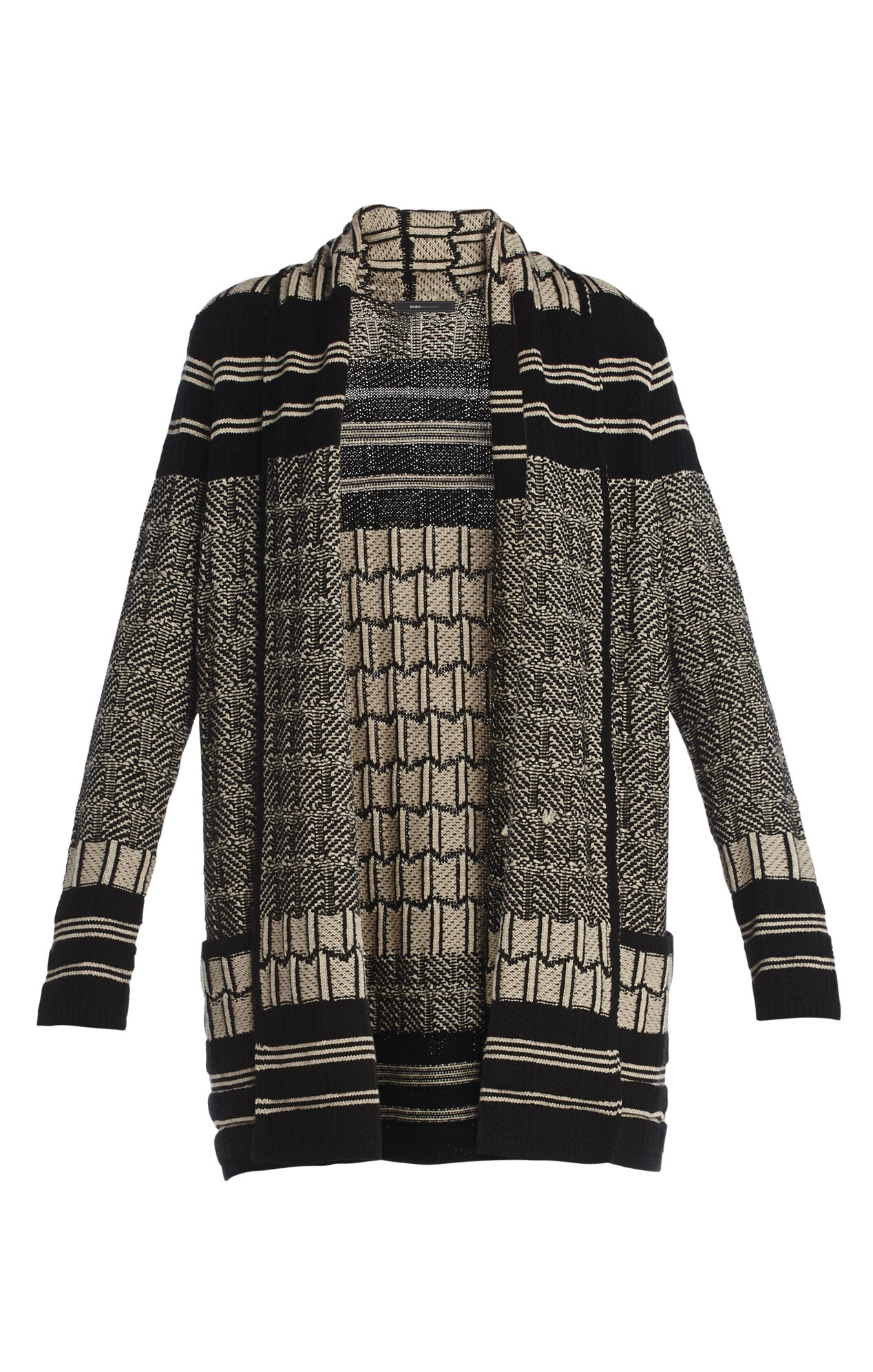 Shadia Textured Jacquard Cardigan