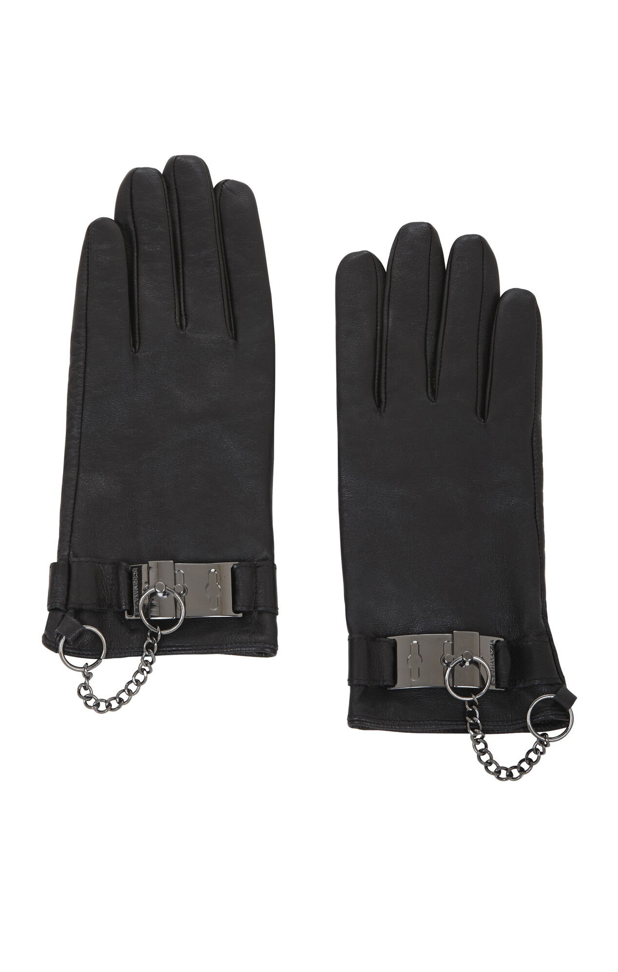 Toggle Cuff Leather Gloves