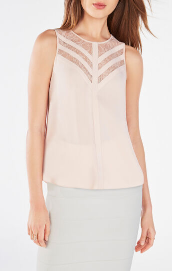 Jay Lace-Blocked Top