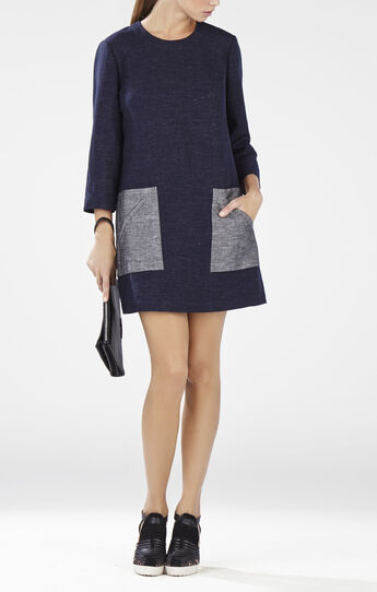 Lexia Contrast Pocket Tunic Dress