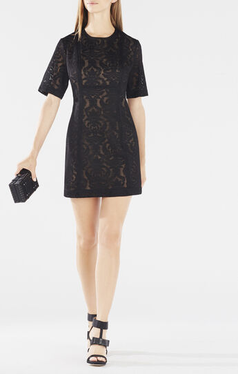 Ceara Wide-Sleeve Lace Dress