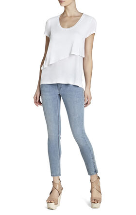 Dollie Short-Sleeve Asymmetrical Top