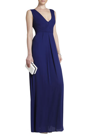 Norah V-Neck Tie-Waist Long Dress