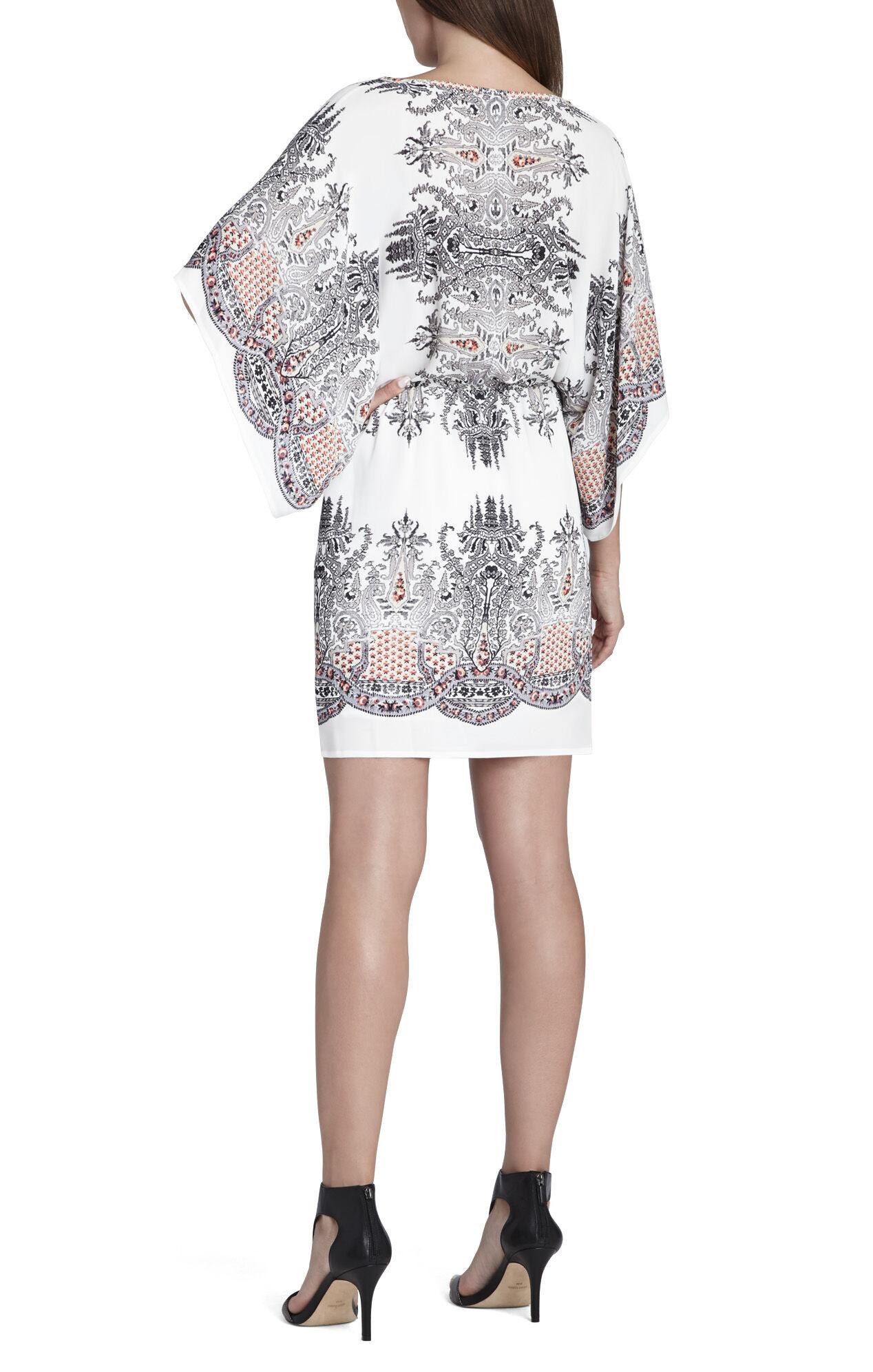 Pauline Drape-Sleeve Printed Dress
