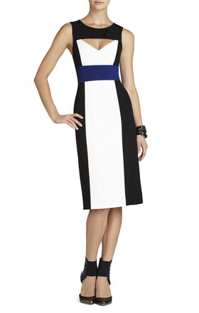 Antonella Color-Blocked Sheath Dress