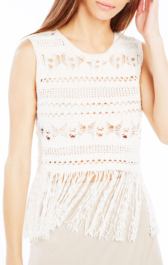 Beccah Fringe Crochet Crop Top