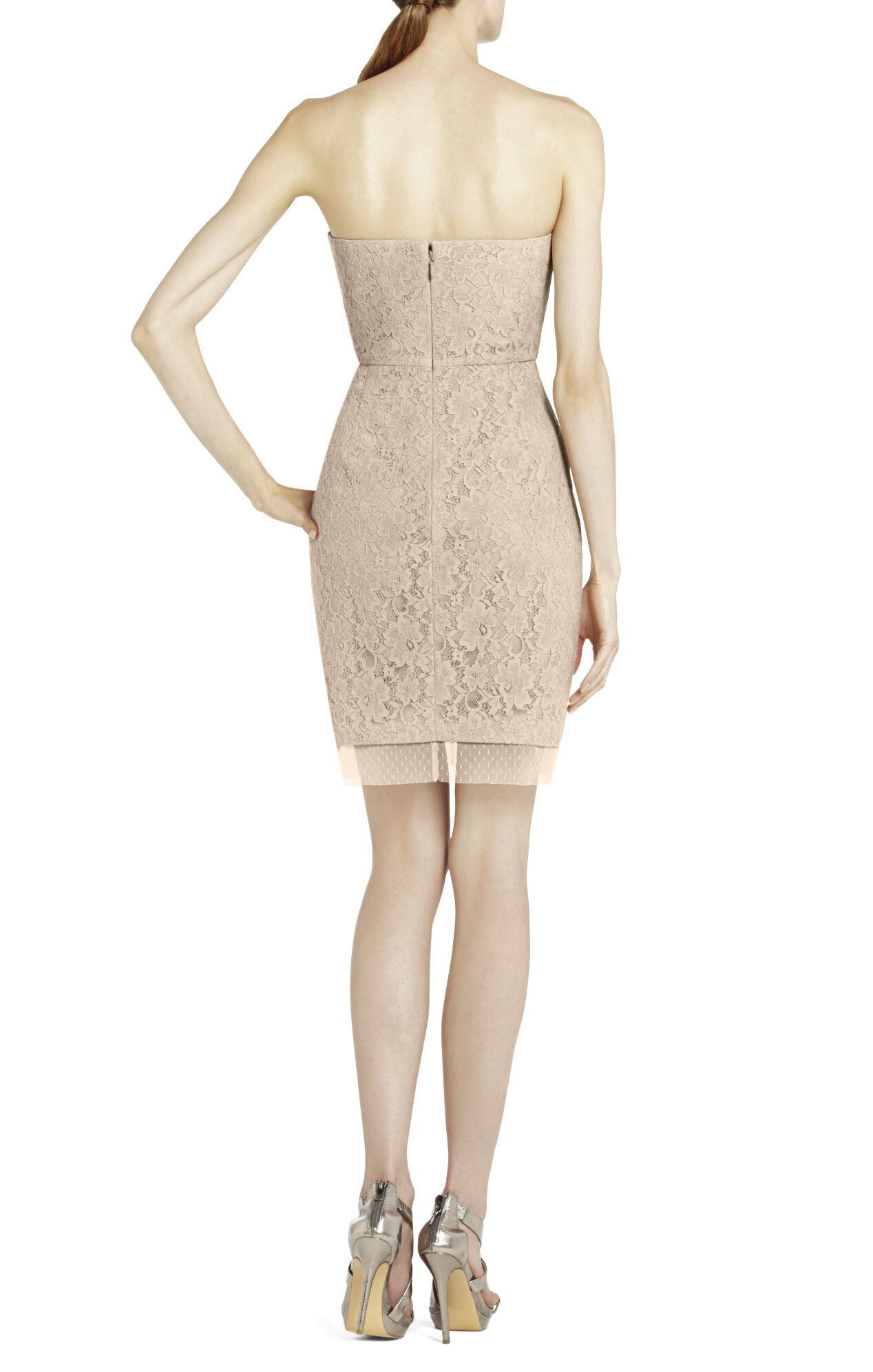 Roselle Fitted Strapless Lace Dress