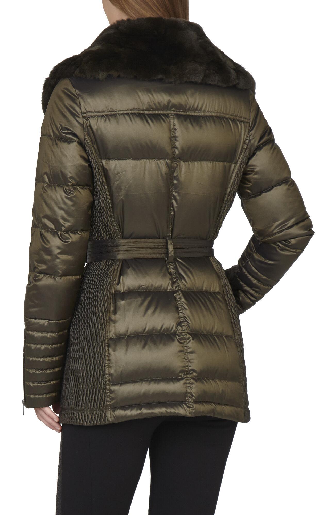 Adela Faux-Fur Trim Puffer Coat