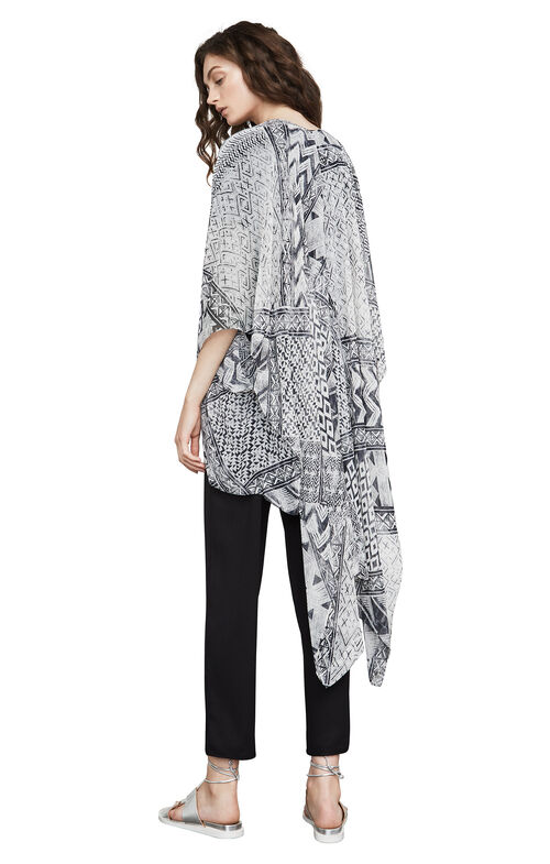 Finnigan Geometric High-Low Poncho