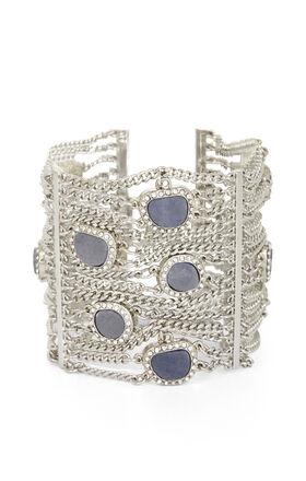 Natural-Stone Draped-Chain Bracelet