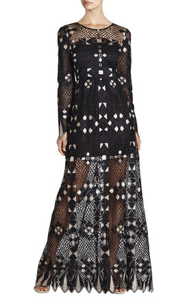 Taliah Long-Sleeve Maxi Dress