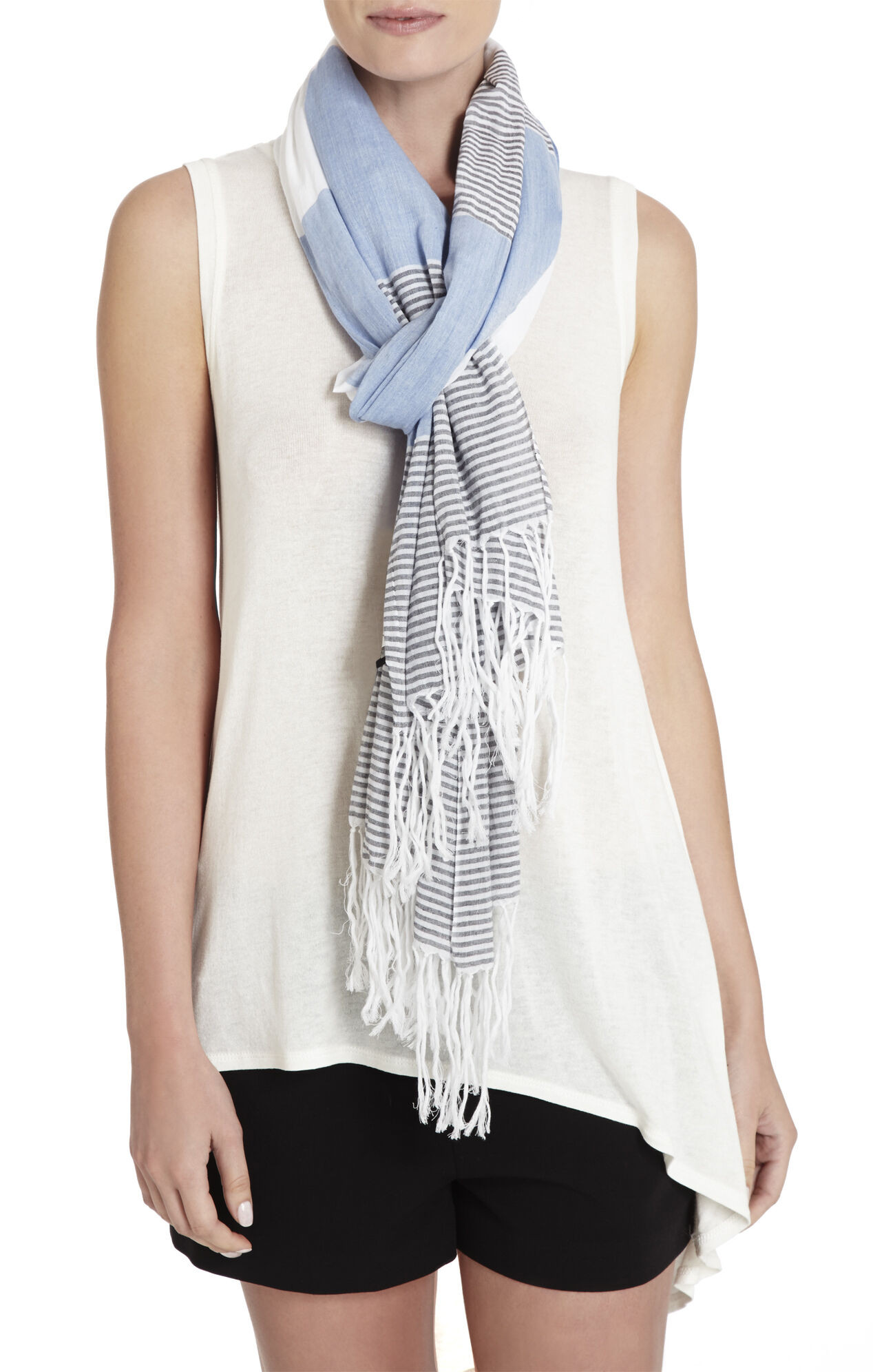 Block Stripe Scarf