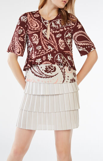 Kyran Paisley Print Peplum Top