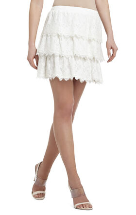 Justina Tiered A-line Skirt