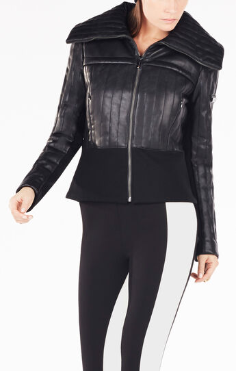 Faith Quilted Faux-Leather Jacket