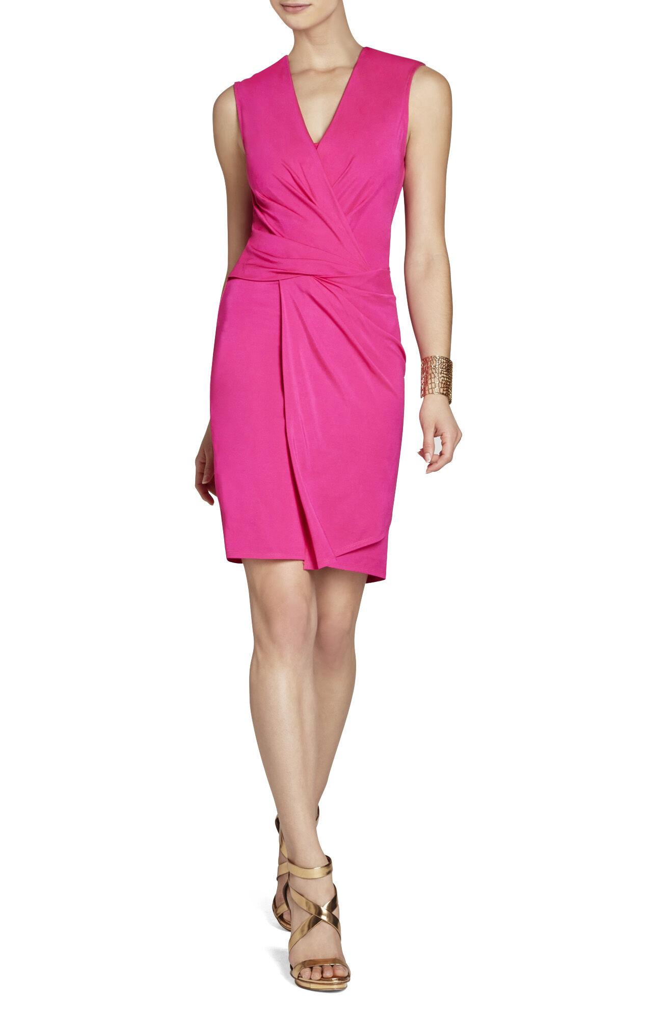Susan Low-Neck Twist-Front Dress
