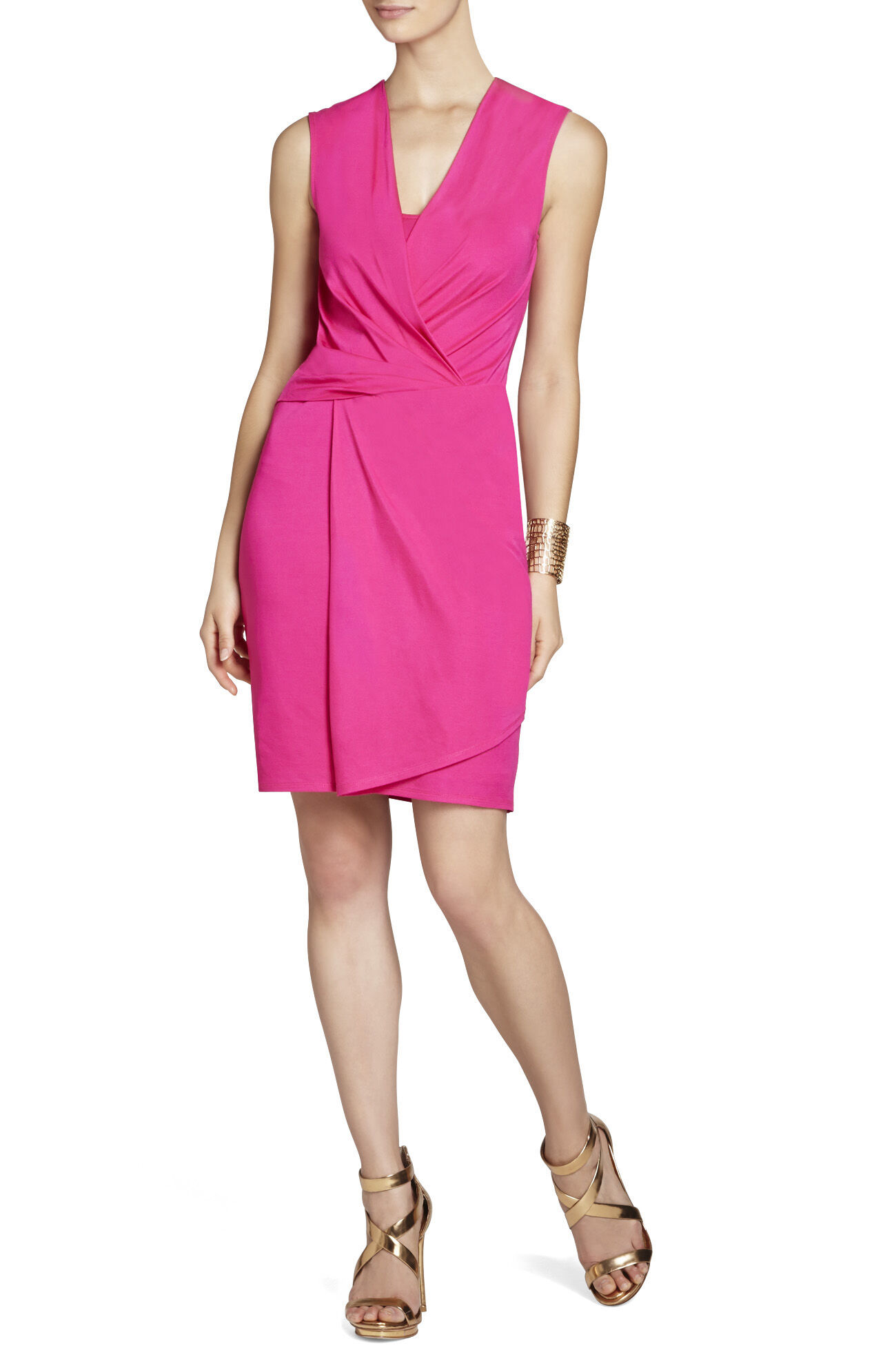 Susan Low-Neck Twist-Front Dress