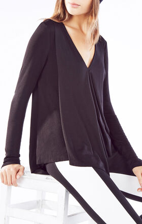 Trishna Long-Sleeve Asymmetrical Top