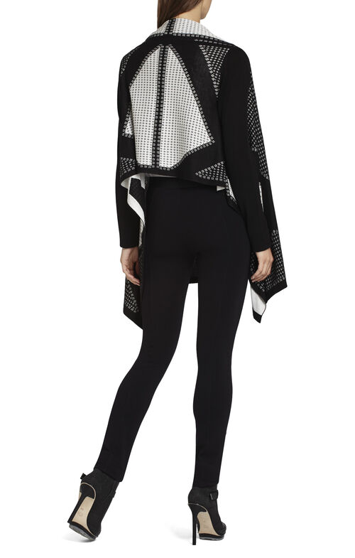 Angelica Contrast-Striped Cardi Wrap