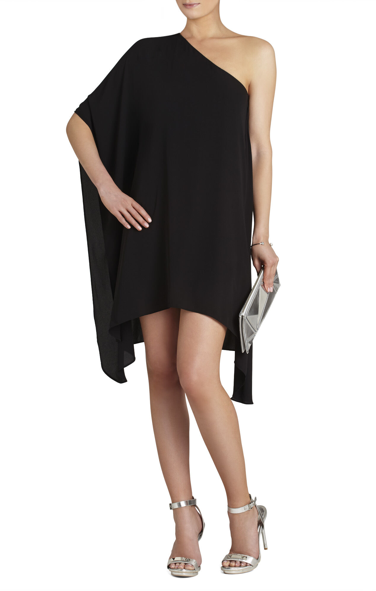 BCBGMAXAZRIA Alana Side-Draped Dress | BCBG.com
