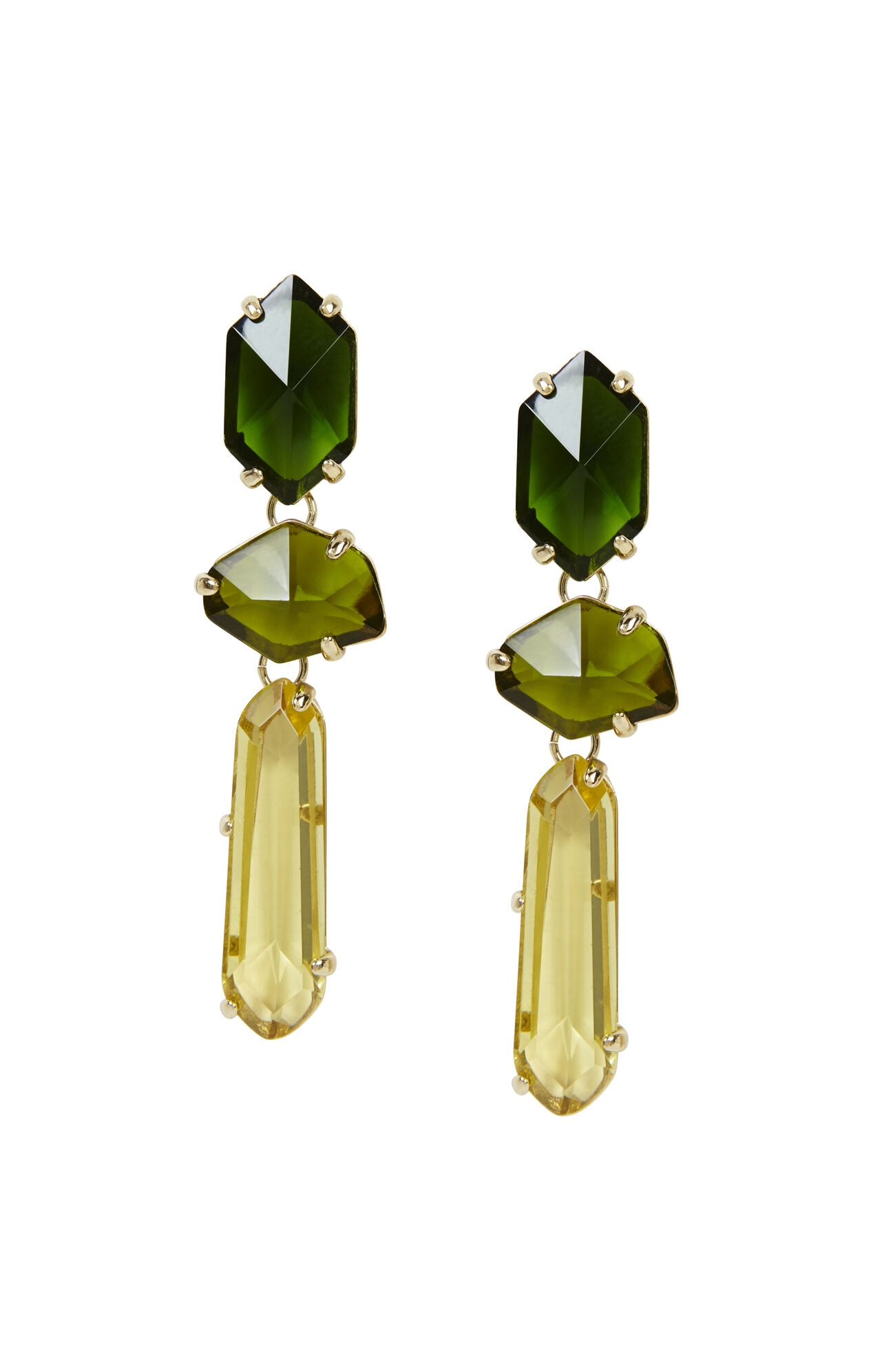 Faceted Ombre-Stone Earrings