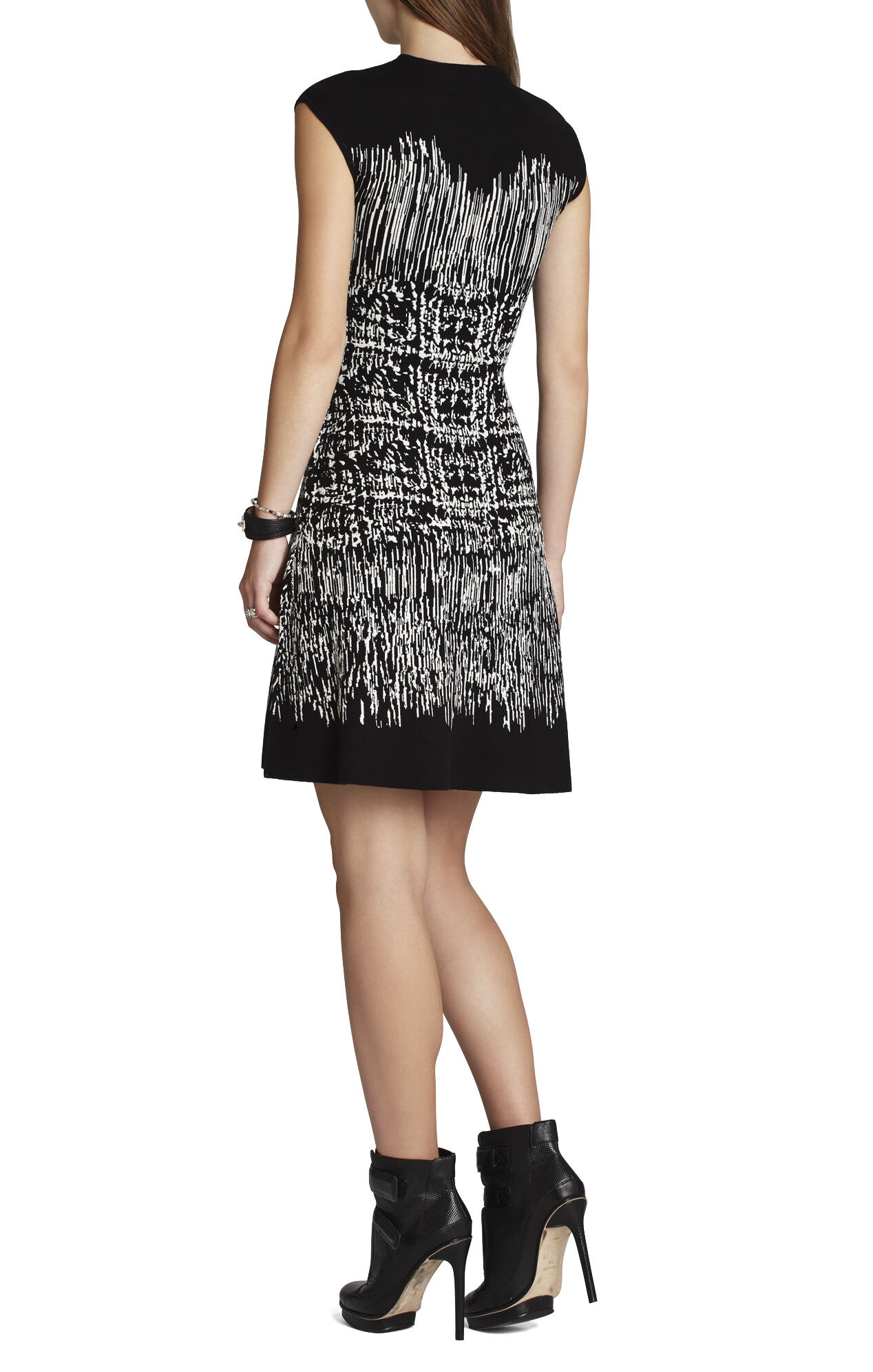 Melissa Painted-Houndstooth A-Line Dress